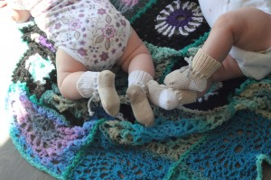 Babysokker i heklegarn